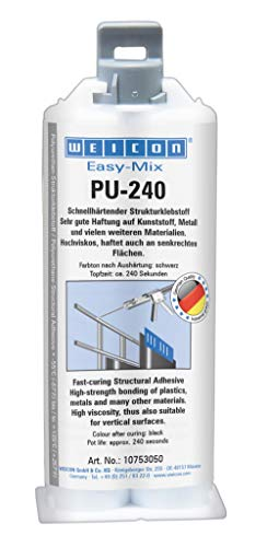 WEICON Easy-Mix PU 240 | 2-Komponenten Polyurethan-Klebstoff, schnellhärtend, schwarz
