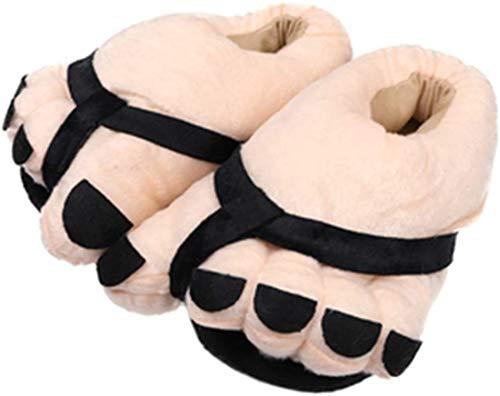 XKONG Big Toe Chaussures à orteils en forme de dessin animé - Chaussons chauds et doux - Pour homme et femme - Chaussures d