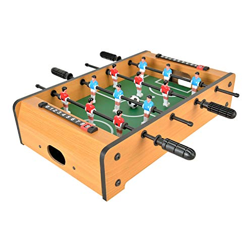 WIN.MAX Mini Foosball Table 20-Inch Table Top Football/Soccer Game Table for Kids Easy to Store