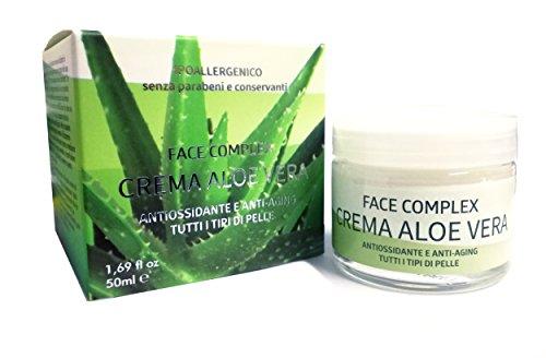 Crema Antioxidante Y Antiedad Con Aloe Vera Para Todo Tipo De Pieles