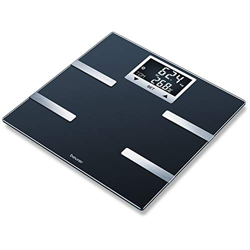 Beurer BF 720 Diagnosewaage mit Bluetooth(R)-Verbindung zur Smartphone-App, Bestimmung von Körpergewicht, Körperfett, Muskelanteil und Kalorienbedarf AMR/BMR