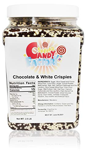Sarah's Candy Factory White & Milk Chocolate Crispies Crispearls Ball in Jar, 2.5 Lbs