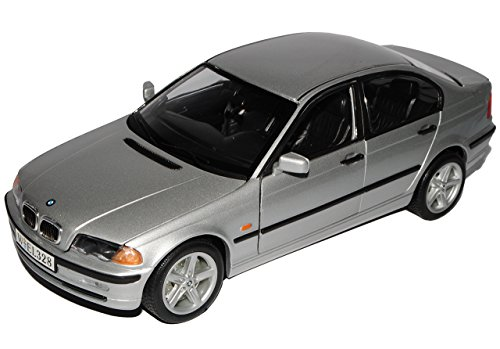 B-M-W 3er E46 328i Limousine Silber 1998-2007 1/18 Welly Modell Auto