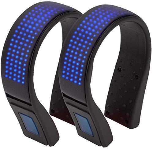 ZYCX123 LED Luces del Clip de Zapatillas para Correr de luz de Seguridad Advertencia Zapata a la luz de la Noche Bailando Correr Correr Caminar Ciclismo Azul 2 Piezas de Bicicletas de Piezas