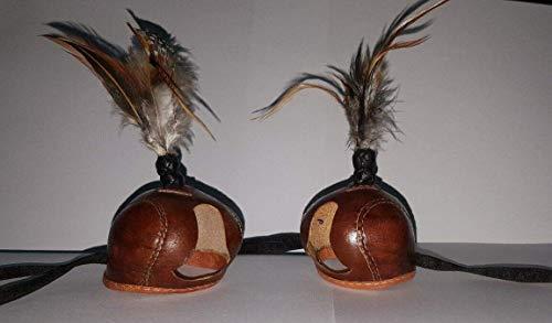 Nieuwe Falconry Hollandse Hood met Pauw Veer Plume (Alle maten beschikbaar) D-Bruin