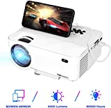 Mini Projector TOPVISION Projector With Screen Mirroring Upgrade 4500 Lumens and HD 1080P