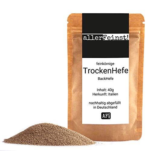 allerFeinst! - feinkörnige Premium Hefe Trockenhefe Backhefe Germ Yeast für z.B. Ciabatta, Pizzateig, Kuchen, Gebäck, uvm (40 g)