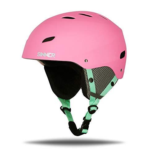 SINNER Skihelm für Herren, Damen & Kinder - Ski & Snowboard Helmet mit Verstellbare Größe & Mehrere Farben - Rosa