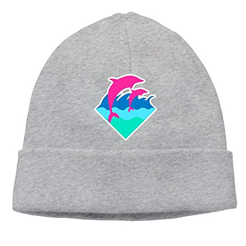 Preisvergleich Produktbild Pink Dolphin Men's Daily Solid Knit Cap Beanie That Fit Your Head Perfect Stretchy & Soft Black