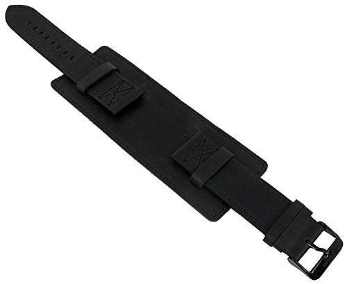 s.Oliver Unterlagenband Uhrenarmband Leder Band 22mm schwarz SO-3047-LQ
