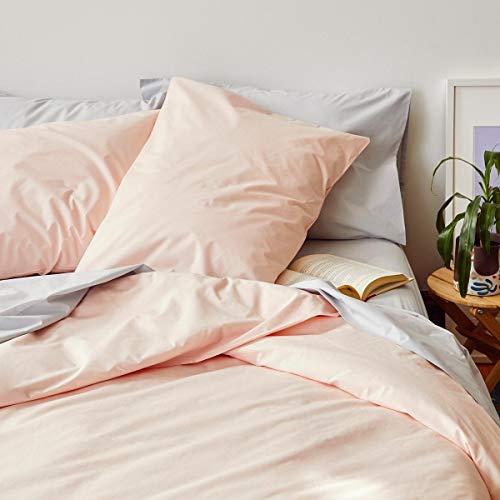 sleepwise™ Biber Bettwäsche Baumwolle | weich warm kuschelig | 135x200 cm + 80x80 cm Kissenbezug | Rosa