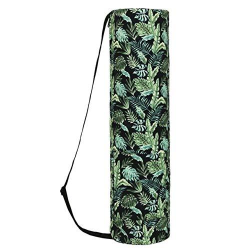 Bolsa de almacenamiento para esterilla de yoga, esterilla de yoga, bolsa de deporte, funda con cremallera, bolsillos con cordón, fácil de transportar, mochila verde