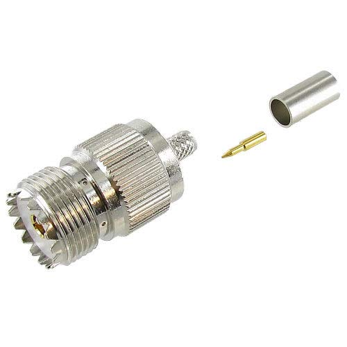 Valley Enterprises UHF Female (SO-239) Crimp-On Coax Connector for for RG-8x/LMR-240 Type Coax Cable