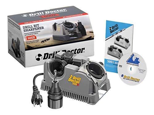 Drill Doctor Bohrerschleifgerät 500 X (Schleifbereich 2,5 – 13 mm, Ausspitzung möglich, Spitzenwinkel 118° - 135°, 230 V)