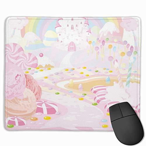 N\A Postres de Dibujos Animados Clipart Lollipop Rectangular Antideslizante Gaming Mouse Pad Teclado Alfombrilla de Goma para computadoras portátiles para el hogar y la Oficina