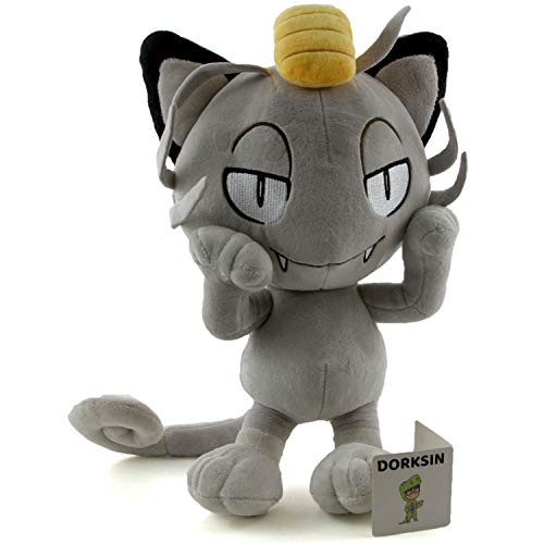 """DorkSin Alola Meowth - 12"""" Anime Pocket Monster Plush"""