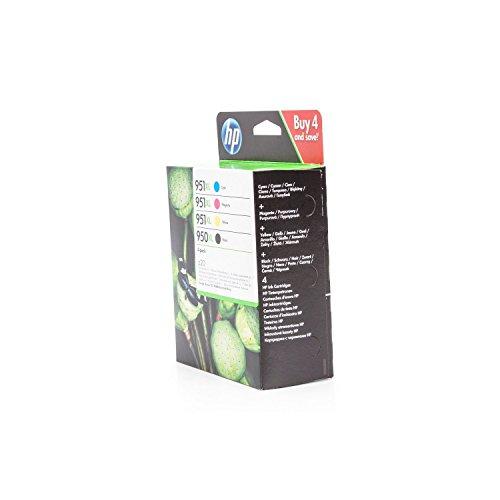 Original Tinte passend für HP OfficeJet Pro 8600 Premium e-All-in-One HP 950XL, 951XL C2P43AE - 4x Premium Drucker-Patrone - Schwarz, Cyan, Magenta, Gelb - 1x 2300, 3x 1500 Seiten