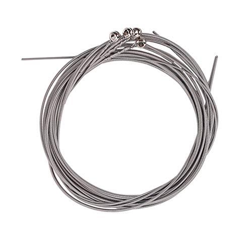 Healifty 4 piezas de cuerdas para bajo acústico cuerdas para bajo sustitución de cuerdas de acero inoxidable para Ejecutores Principiantes Guitarra Acústica Bajo (plata)