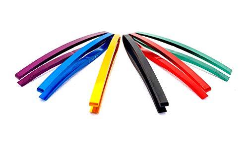 Simian Tweezers スリム 鴫 6色 セット (7046, Multi)