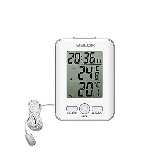 BALDR Digital Thermometer Wired, White