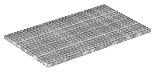 Fenau | Gitterrost/Industrie-Rost/Garagen-Rost, Maße: 600 x 1000 x 30 mm, MW: 30/30 mm, Materialstärke: 2 mm - Radlast: 3,17 kN/Flächenlast (m²): 28,81 kN, feuerverzinkt, Pressrost, Stab-in-Stab