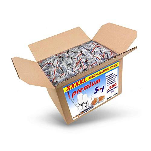 RedFOX24 Spülmaschinen Tabs - Geschirrspültabs - Spülmaschinenreiniger - mit 5 verschiedenen Funktionen - in einem 9 KG Karton erhältlich