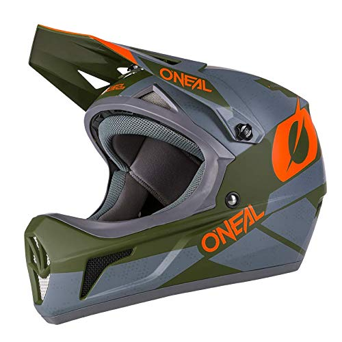 O'Neal Sonus Deft Mountain Bike Helmet Olive/Orange, Large