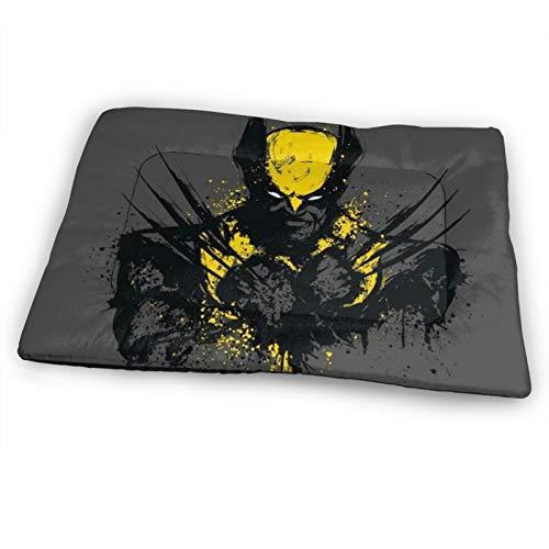 AMSYES X-Men- Comics Colchón extragrande para mascotas para gatos, suave, color gris, jaulas para perros grandes, cojín para exteriores, 132 x 86 cm