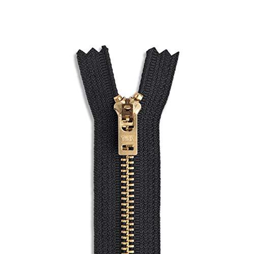 "6 inch Metal Zipper Black 6"" Gold Brass Metal Heavy Duty Zippers Non Separating Sewing Zipper Craft Zippers"