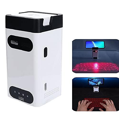 IYUNDUN Teclado Láser Virtual Bluetooth, Mini Teclado Inalámbrico, Accesorios De Computadora con Función De Mouse, Teclado De Proyección para PC, Almohadilla para Teléfono Y Computadora Portátil