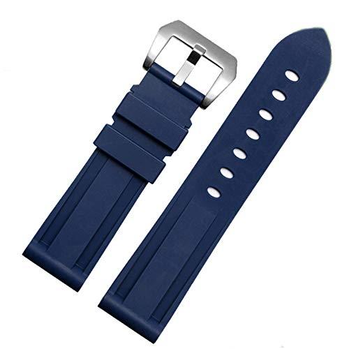 Nywing 時計ベルト 時計バンド 22mm 24mm ラバーベルト 柔らかい シリコン 腕時計ベルト バックル オリエント尾錠付き ブラック ブルー オレンジ グレー