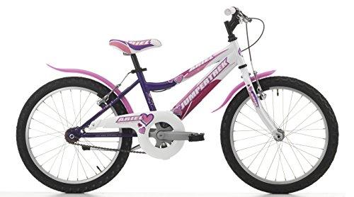 Bici per bambina MTB 20'' Bicicletta Jumpertrek Ariel Mountain Bike Rosa Fucsia (Viola)