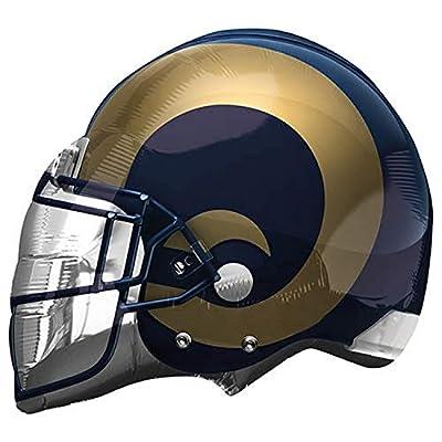 "Anagram NFL Los Angeles Rams Football Helmet Foil Balloon, 21"", Multicolor"