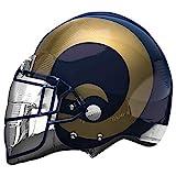 Anagram NFL Los Angeles Rams Football Helmet Foil Balloon, 21', Multicolor