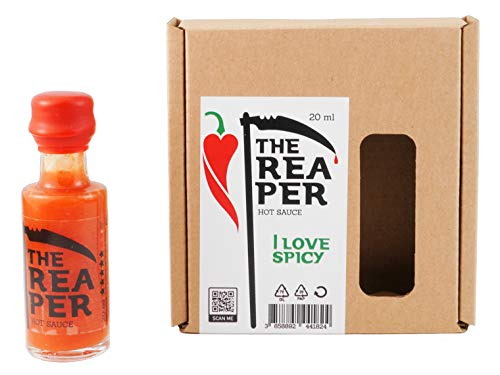 I LOVE SPICY The Reaper Salsa Piccante (Carolina Reaper Peperoncino 85%) 20 ml Calore 7/5 Louisiana Stile