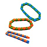 3Pcs 2021 Newest 24 Sections Wacky Tracks Chain Toy, Rotable Decompression Chain Toys for Children and Adults, Novelty Fidget Toys and Finger Sensory Toys, for Helping Relax