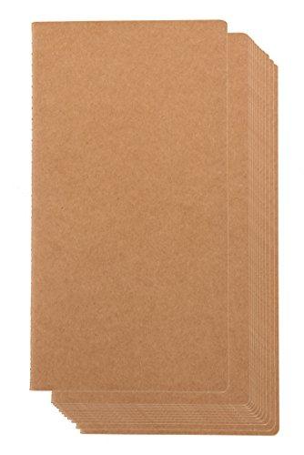 Paper Junkie kraft notebook - 12-pack forrado revistas cuaderno de cuadrícula, diario de bolsillo para los viajeros, diario, notas - h5 tamaño, cubierta suave, 80 páginas, brown, 4.4 x 8.26 pulgadas