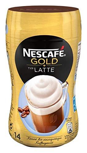 NESCAFÉ GOLD Typ Latte, löslicher Bohnenkaffee aus erlesenen Kaffeebohnen, koffeinhaltig, mit extra viel Schaum, Menge: 1er Pack (1 x 250 g)