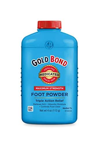 Gold Bond Maximum Strength Foot Powder, White, 4 Ounce