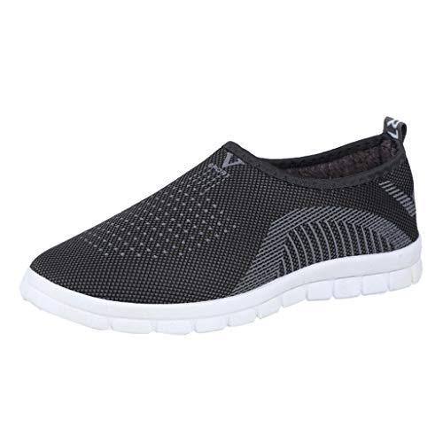 HOUMENGO Zapatos Deporte Mujer Zapatillas Deportivas Correr Gimnasio Casual Zapatos De Andar con Punta Redonda para Invierno, Mocasines, Zapatos para Caminar