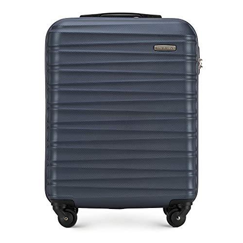 WITTCHEN Koffer – Handgepäck | hartschalen, Material: ABS | hochwertiger und Stabiler | Blau | 34 L | 54x20x38 cm