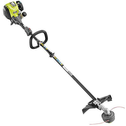 Ryobi 4-Cycle 30cc Attachment Capable Straight Shaft Gas Trimmer RY4CSS, 18 in. cutting width