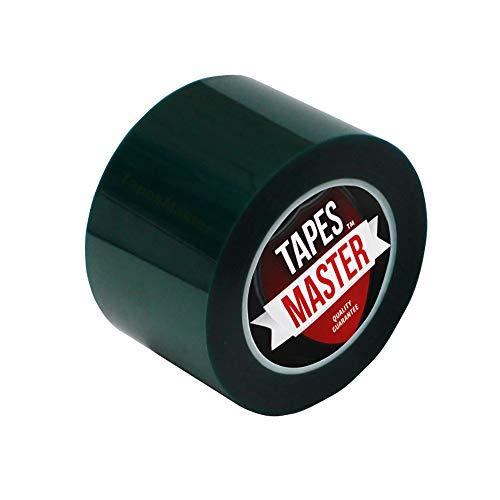"3"" X 72 Yds - Tapes Master 2 Mil Green Powder Coating Masking Tape - High Temperature"