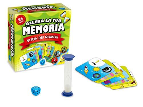 Teorema Giocattoli - Juego de Cartas de Entrenamiento de tu Memoria, desafía de los números, 66203.