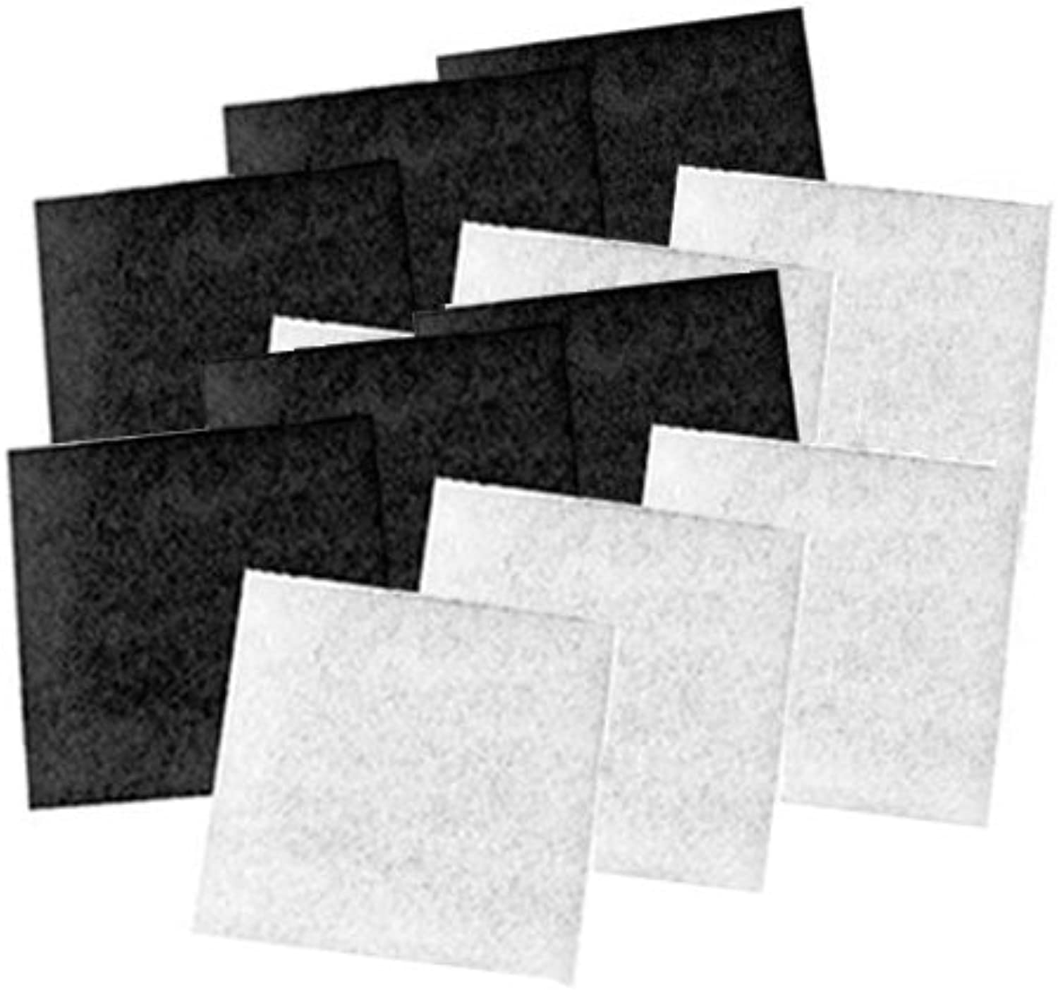 Coarse Poly & Carbon Replacement Pads for Pondmaster 1000 & 2000 Filters, Six Pack