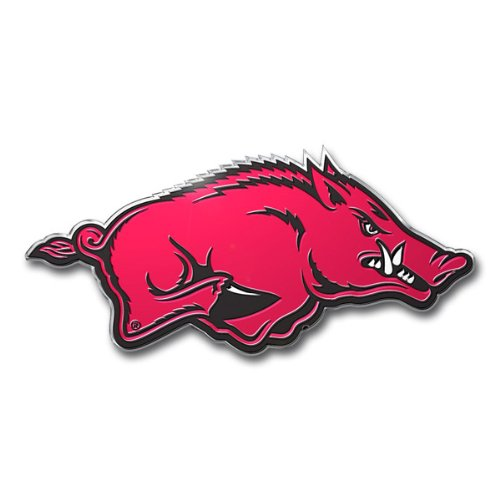 Patch Collection Arkansas Razorbacks Colored Aluminum Car Auto Emblem