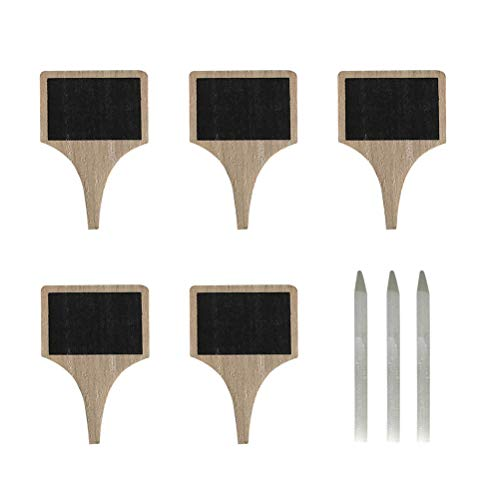 BESTONZON 5pcs Wooden Cheese Marker Cheese Labels Cheese Name Tags Chalkboard Labels with 3 Chalk Markers for Parties and Dinners