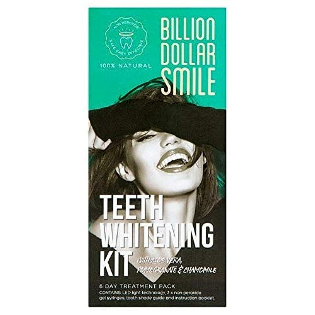 気をつけてスライス姪[Billion Dollar Smile ] キットを白く億ドルの笑顔歯 - Billion Dollar Smile Teeth Whitening Kit [並行輸入品]