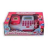 JONOTOYS Caja registradora de juguete, color blanco y rosa