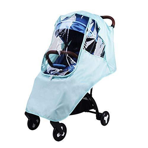 TROLLEY Universal Baby Stroller Rain Cover, Environmental EVA HD Vision Transparent Baby Car Weather Shield, Housse Anti-Pluie pour Poussette à Roues rotative Portable